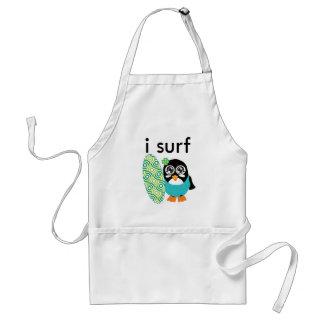 I Surf Penguin Adult Apron