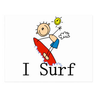 I Surf T-shirts and Gifts Postcard