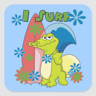 I Surf T-shirts and Gifts Stickers