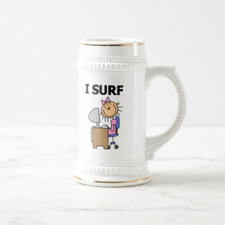 I Surf the Web Beer Stein