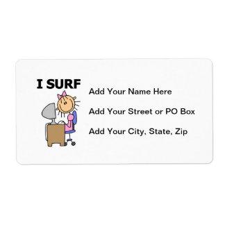 I Surf the Web Label