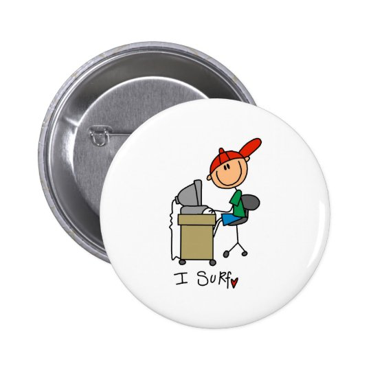 I Surf the Web Pinback Button
