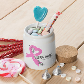 I Surived Breast Cancer Candy Jars
