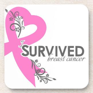 I Surived Breast Cancer Beverage Coasters