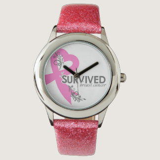I Surived Breast Cancer Wrist Watches