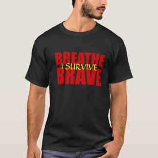 I Survive Breathe Brave - Survivor Jewelry T-Shirt