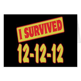 I SURVIVED 12-12-12 CARD
