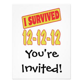 I SURVIVED 12-12-12 CUSTOM INVITATION