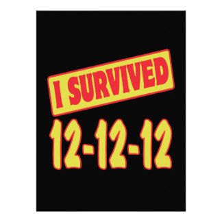 I SURVIVED 12-12-12 INVITATION