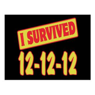 I SURVIVED 12-12-12 POSTCARD