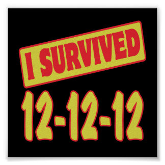 I SURVIVED 12-12-12 POSTERS