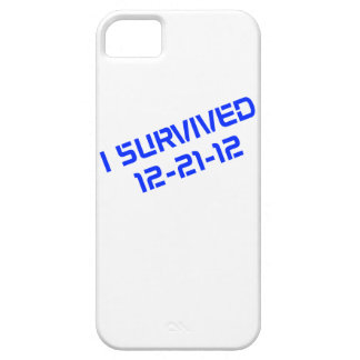 I Survived 12-21-12 (Blue) iPhone Carrying Case