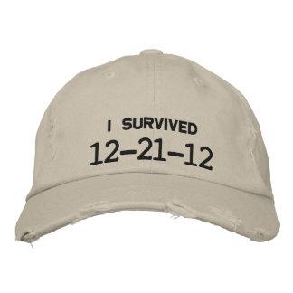 I SURVIVED 12-21-12 EMBROIDERED BASEBALL HAT