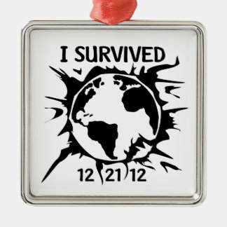 """""""I Survived 12-21-12"""" End of the World Ornaments"""