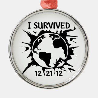 """""""I Survived 12-21-12"""" End of the World Ornament"""