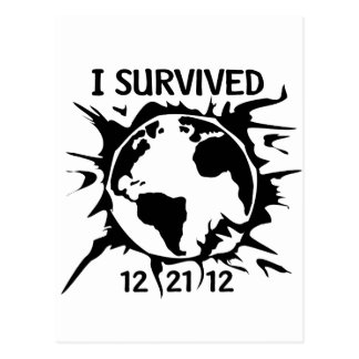 """I Survived 12-21-12"" End of the World Postcard"