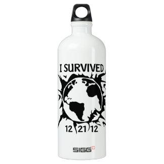 """""""I Survived 12-21-12"""" End of the World SIGG Traveler 1.0L Water Bottle"""