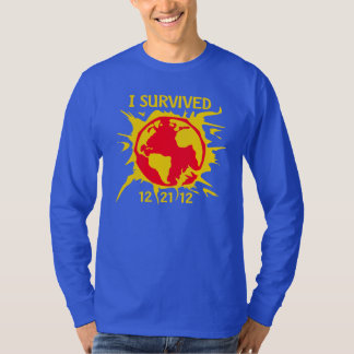 """I Survived 12-21-12"" End of the World T-Shirt"