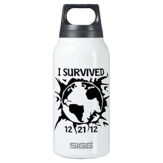 """I Survived 12-21-12"" End of the World Thermos Bottle"