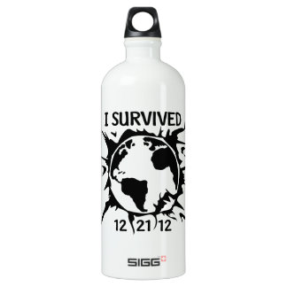 """I Survived 12-21-12"" End of the World Water Bottle"