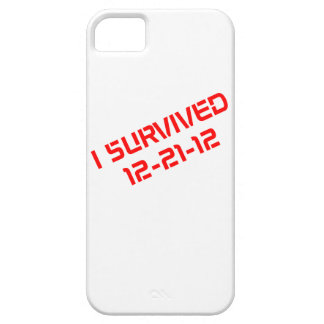 I Survived 12-21-12 (Red) iPhone Carrying Case