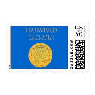 """""""I Survived 12-21-2012"""" Postage Stamp"""