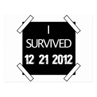 I SURVIVED 12/21/2012 POSTCARDS