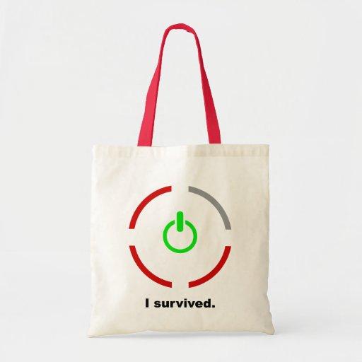 I Survived $13.95 Canvas Tote Bag