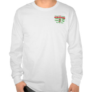 I Survived 1-1-11 (Happy New Year) Tshirt