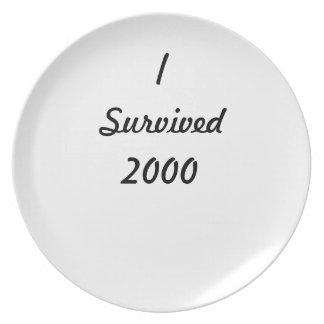 I survived 2000! plate