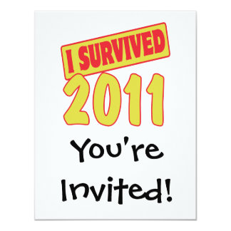I SURVIVED 2011 CARD