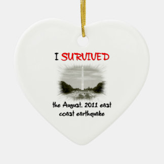 I Survived 2011 East Coast Earthquake Christmas Ornaments