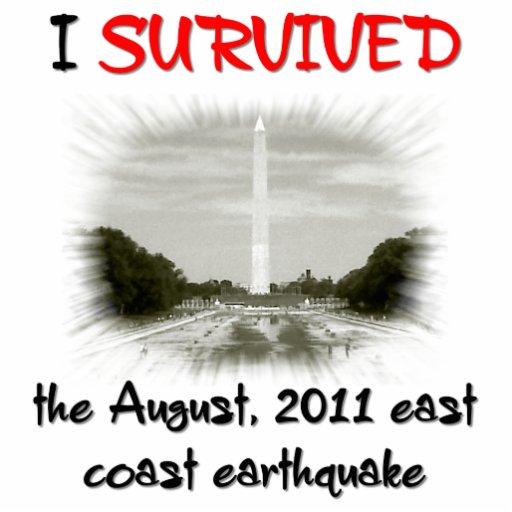 I Survived 2011 East Coast Earthquake Photo Cutout