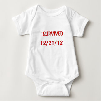 I Survived 2012 Baby Bodysuit