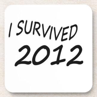 I Survived 2012 Beverage Coasters