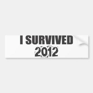 I Survived 2012 Car Bumper Sticker