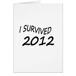 I Survived 2012 Card