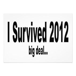 I Survived 2012 Invitations