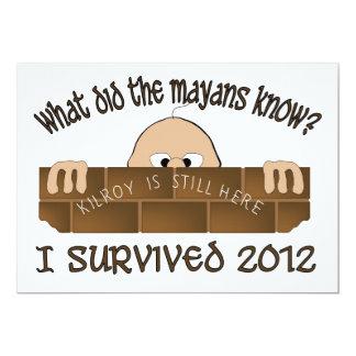 """I Survived 2012"" Invitations."