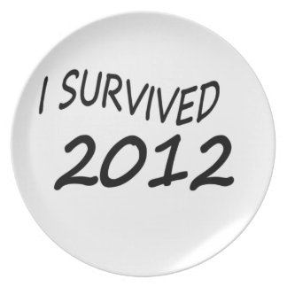 I Survived 2012 Party Plate