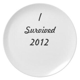 I survived 2012! plates