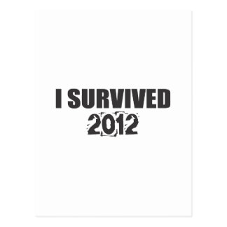 I Survived 2012 Postcard