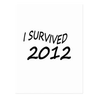 I Survived 2012 Post Cards