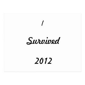 I survived 2012! postcard