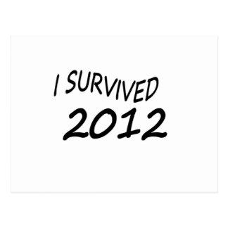 I Survived 2012 Postcards