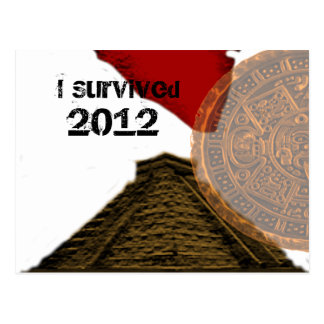 I Survived 2012 Postcard