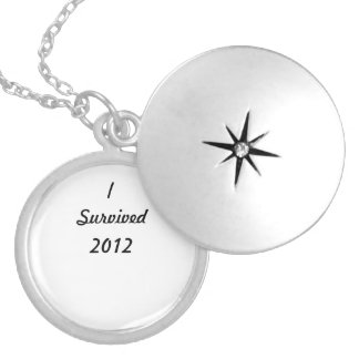 I survived 2012! round locket necklace