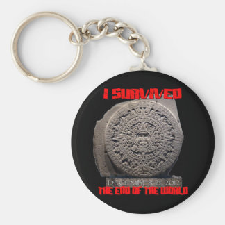 I SURVIVED 2012 The End of The World Keychain