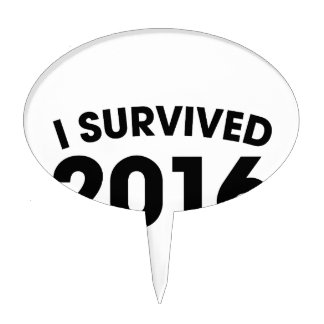 I Survived 2016 Cake Topper