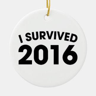 I Survived 2016 Ceramic Ornament